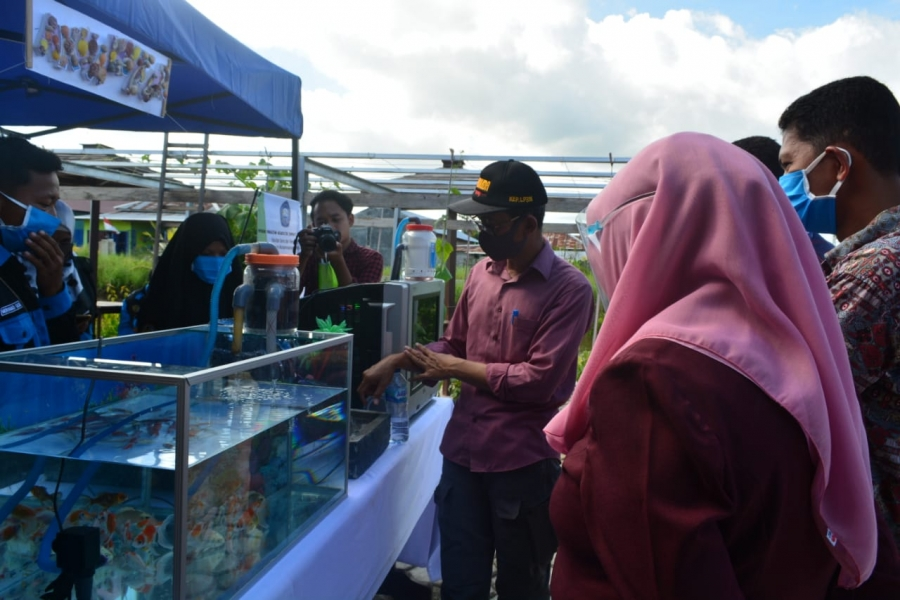 Mahasiswa Akuakuktur ikut serta dalam Pameran Fakultas Sains dan Teknologi memeriahkan Hari Kemerdekaan Republik Indonesia yang Ke-75.